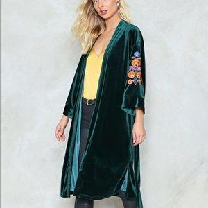 NEW! NastyGal Growin' in Velvet Kimono SOLD OUT
